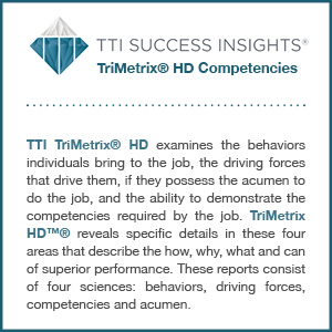 TTI Success Insights® TriMetrix® HD Competencies assessment product description