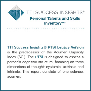 TTI Success Insights® Personal Talents and Skills Inventory™ assessment product description