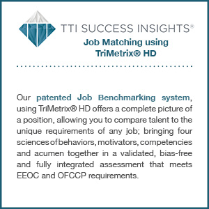 TTI Success Insights® Job Matching using TriMetrix® HD assessment product description