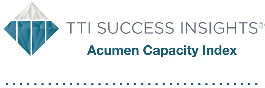 TTI Success Insights Acumen Capacity Index
